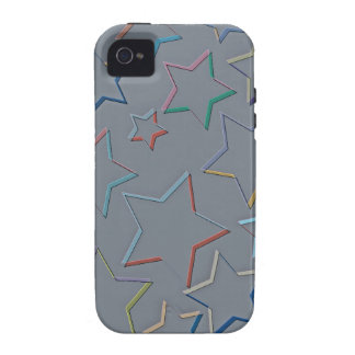 La estrella coloreada resume la casamata del iPhone 4 carcasa