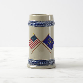 La estrella cruzada e Indiana de los E.E.U.U. 20 Jarra De Cerveza