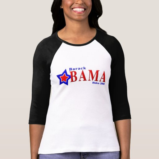 la estrella de Barack Obama biden 2008 Poleras