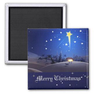 La estrella de Belén. Imán del regalo del navidad