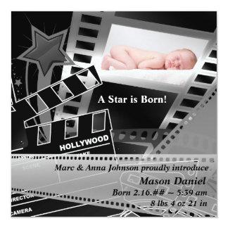 La estrella de cine blanca negra es invitación