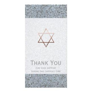 La estrella de cobre de la condolencia de la tarjeta con foto personalizada