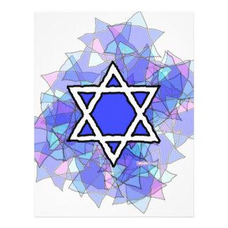 La estrella de David azul