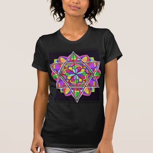 La estrella de David colorida Camiseta