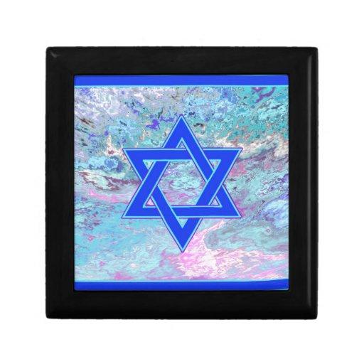La estrella de David en el mármol Cajas De Joyas