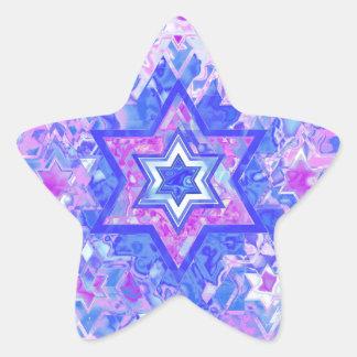 La estrella de David… en el mármol Pegatina En Forma De Estrella