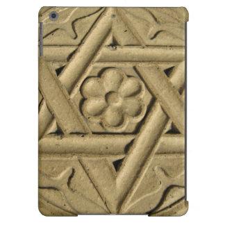 La estrella de David grabó en la piedra - judaísmo Funda Para iPad Air