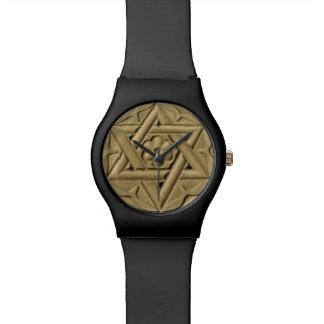 La estrella de David grabó en la piedra - judaísmo Reloj