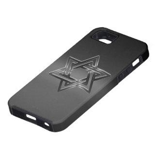 La estrella de David judía brilla iPhone 5 Fundas