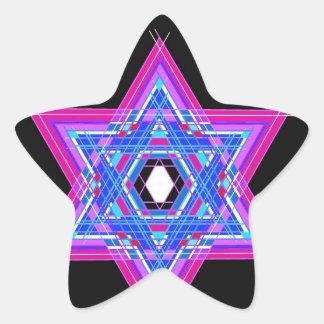 La estrella de David Pegatina En Forma De Estrella