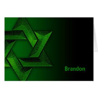 La estrella de David verde y negra le agradece Tarjeta Pequeña