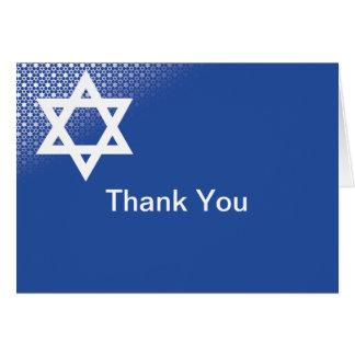 La estrella de la barra azul Mitzvah de David le Tarjeta Pequeña