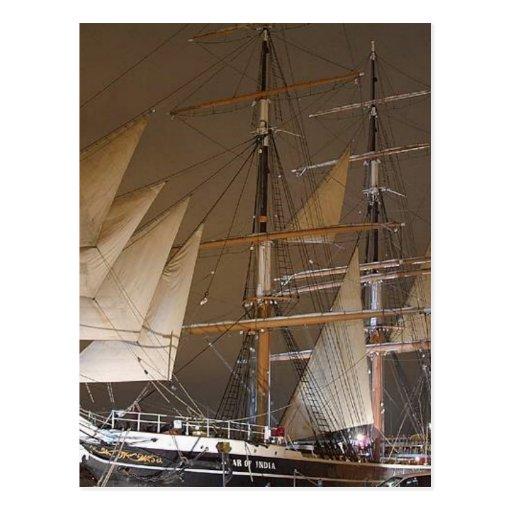 La estrella de la India navega los barcos de los v Tarjetas Postales