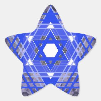 La estrella de las capas de David Pegatina En Forma De Estrella