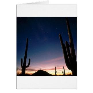 La estrella de los desiertos arrastra el Saguaro A Tarjeta De Felicitación
