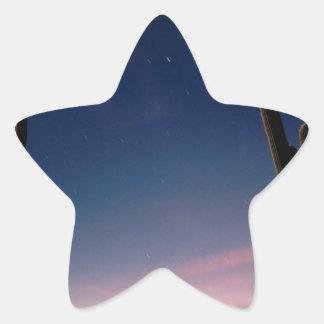 La estrella de los desiertos arrastra el Saguaro Pegatina En Forma De Estrella