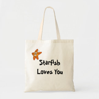 La estrella de mar le ama bolsa lienzo