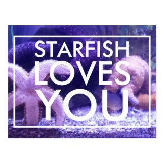 La estrella de mar le ama postal