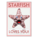 La estrella de mar le ama tarjeta del el día de Sa