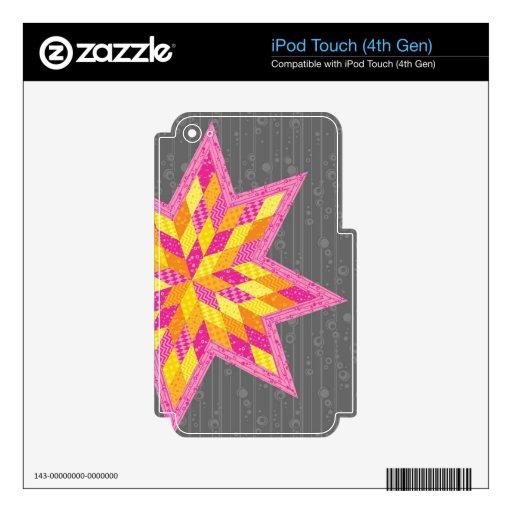 La estrella de Morgan iPod Touch 4G Calcomanía