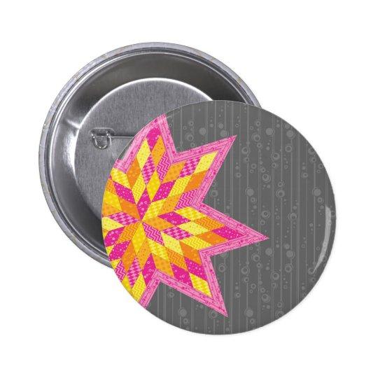 La estrella de Morgan Pin Redondo De 2 Pulgadas