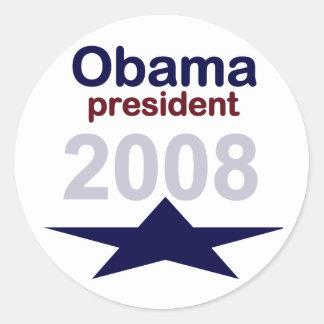 La estrella de Obama diseña al pegatina