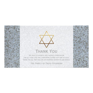 La estrella de oro de la condolencia de la piedra plantilla para tarjeta de foto