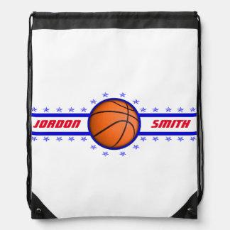 La estrella del baloncesto es un campeón mochila