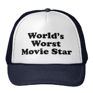 La estrella del cine peor del mundo gorro de camionero