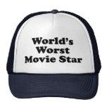 La estrella del cine peor del mundo gorros