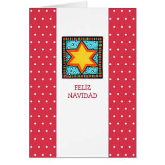 La estrella del navidad puntea la tarjeta española