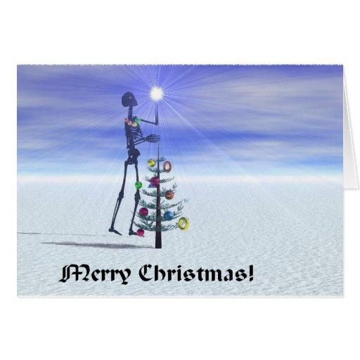 La estrella del navidad tarjeta de felicitación