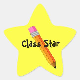 La estrella del profesor con los pegatinas del pre