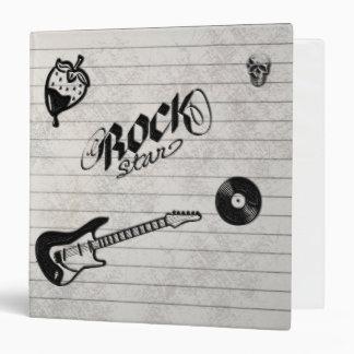 La estrella del rock Doodles la carpeta del Grunge