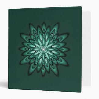 La estrella del verde de mar florece la carpeta 3-