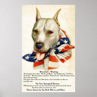 La estrella del vintage Spangled el poster del per