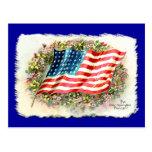 La estrella del vintage Spangled productos de la b Postal