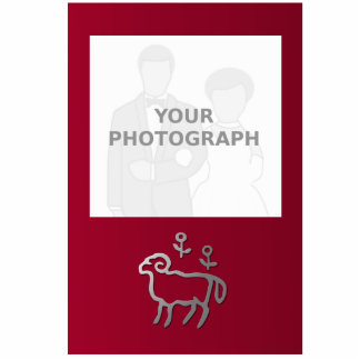 La estrella del zodiaco del aries firma adentro la fotoescultura vertical