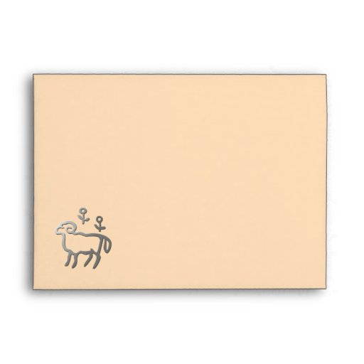 La estrella del zodiaco del aries firma adentro la sobres