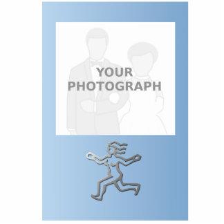 La estrella del zodiaco del virgo firma adentro el fotoescultura vertical