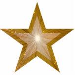 """La estrella """"dos del oro entona"""" el ornamento del  esculturas fotográficas"""