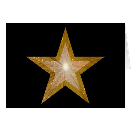 """La estrella dos del oro entona negro """"hecho"""" bien tarjeta de felicitación"""