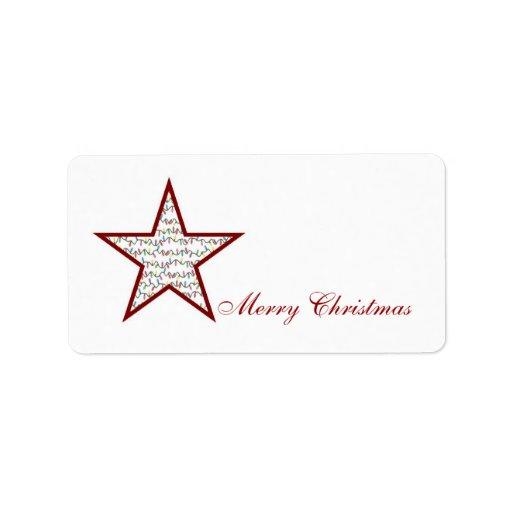 La estrella enciende la etiqueta de correo de etiqueta de dirección