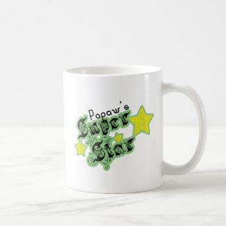 La estrella estupenda del Papaw Tazas