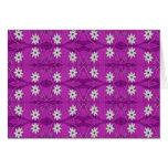 la estrella florece púrpura tarjeta
