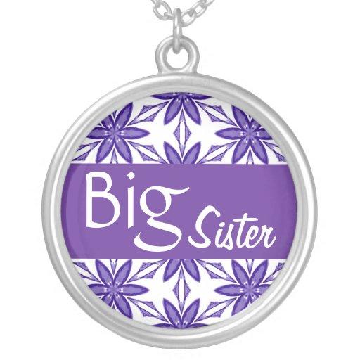 La estrella grande de SisterPurple florece el pers Pendientes Personalizados