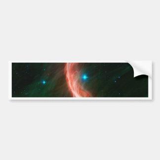 La estrella hace ondas pegatina de parachoque