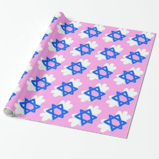 La estrella judía con Mitzvah se va volando, papel Papel De Regalo