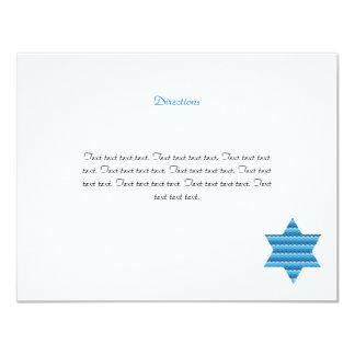 La estrella judía David hermana la tarjeta de la Invitación