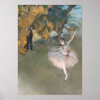 La estrella, o bailarín en la etapa, c.1876-77 poster